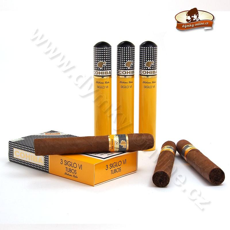 Kubánské doutniky Cohiba Siglo VI Tubos 3ks