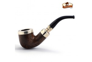 Dýmka Peterson Flame Grain Spigot Silver Smooth
